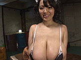 Colossal titty fuck over busty asian babe Hitomi